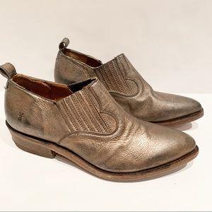 NWOB Frye Gold Metallic Ankle Booties